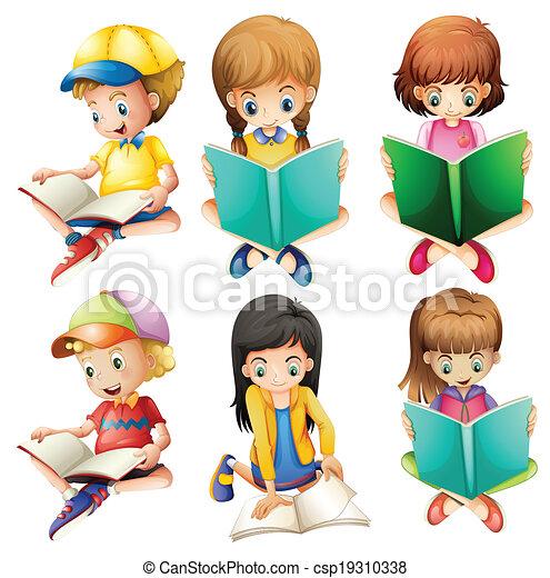 Niños leyendo - csp19310338