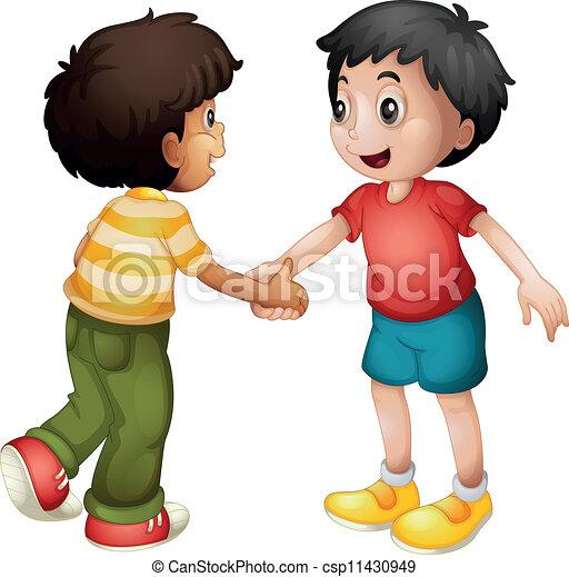 Los chicos dan la mano - csp11430949