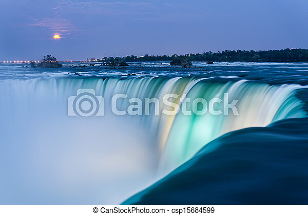 Niagara Falls at Dusk - csp15684599