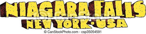 Niagara Falls, USA Text - csp35054591