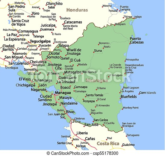 Nicaragua-World-Countries-VectorMap-A