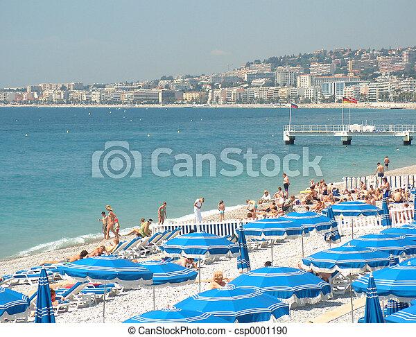 Nice Beach in France - csp0001190
