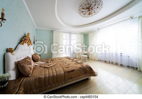 nice big bed - csp4483154