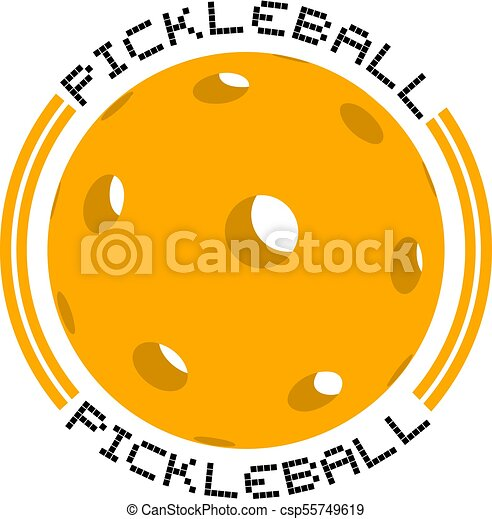 creative design of nice circle pickleball symbol vector clip art rh canstockphoto com pickleball clip art free images