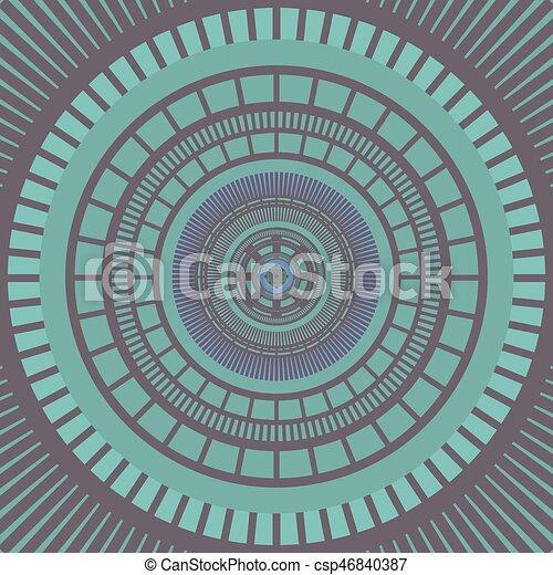 nice color circle art - csp46840387