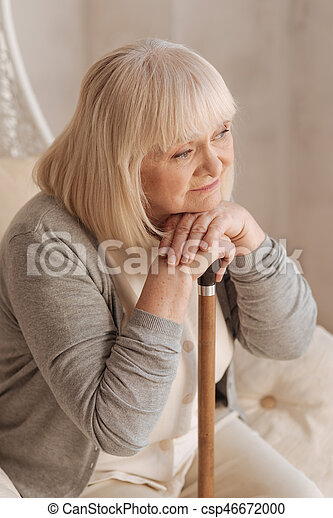 nice dreamy woman thinking about her stock photography csp46672000
