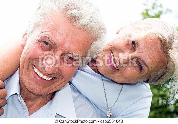 nice elderly couple - csp6551043