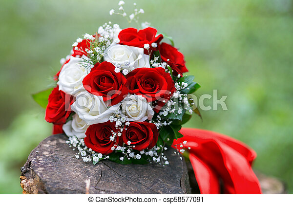 Nice Flower Bouquet Close Up Of Bridal Bouquet Of Roses For Wedding Day Place For Text Canstock