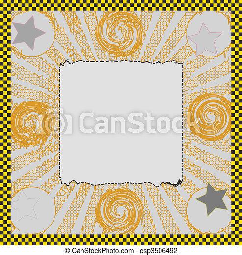 Nice frame. Illustration of abstract frame.