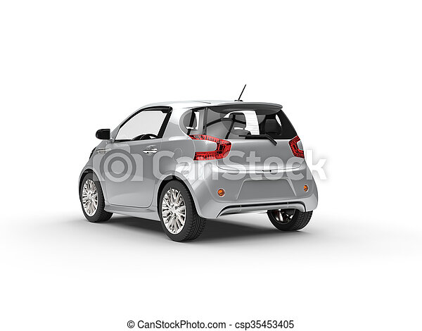 Nice Modern Silver Compact Car - csp35453405