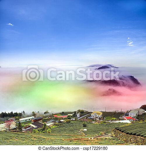 Nice mountain night view - csp17229180