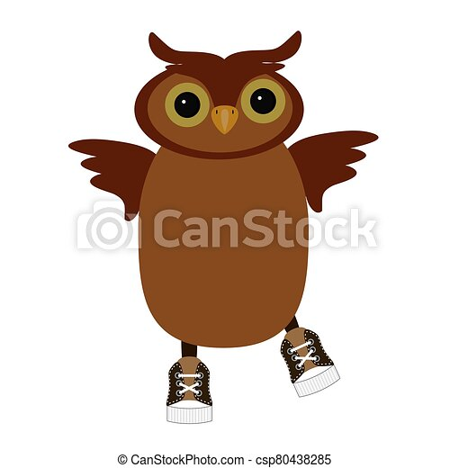 nice owl on white background - csp80438285