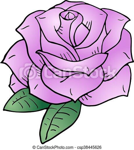 nice pink rose illustration - csp38445626