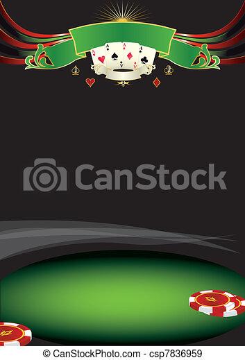 Nice poker background - csp7836959