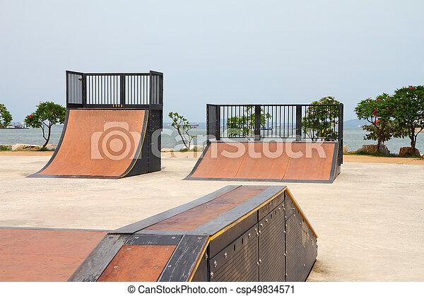 nice skate in sports park - csp49834571