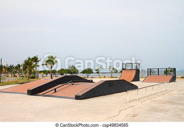 nice skate in sports park - csp49834565