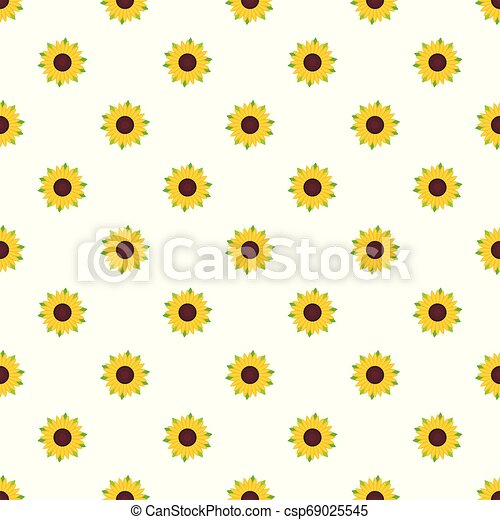 Nice sunflower pattern seamless vector - csp69025545