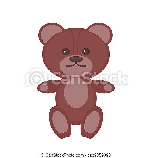 nice teddy bear on white background - csp9359093