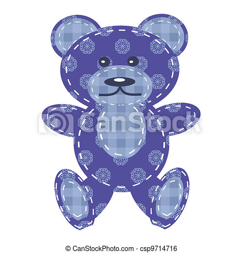 nice teddy bear scrapbook - csp9714716