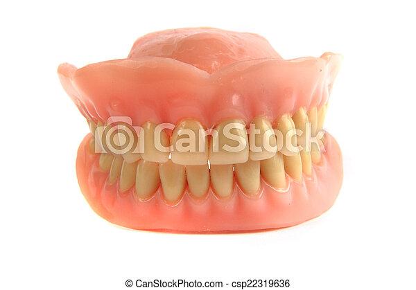 nice teeth prosthesis - csp22319636