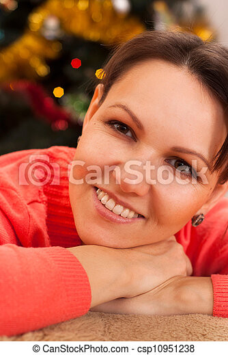 Nice woman celebrating the New Year - csp10951238