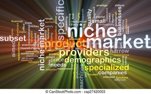 Niche market background concept glowing - csp27420003