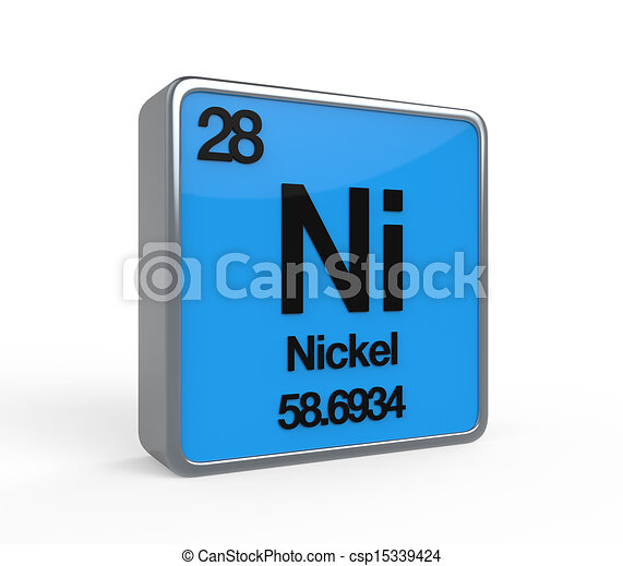 Nickel element periodic table isolated on white background nickel element periodic table csp15339424 urtaz Choice Image