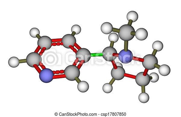 Nicotine molecular structure - csp17807850