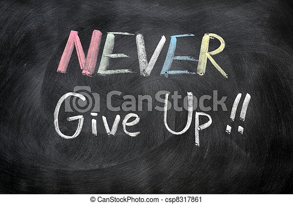 Gib niemals auf - csp8317861