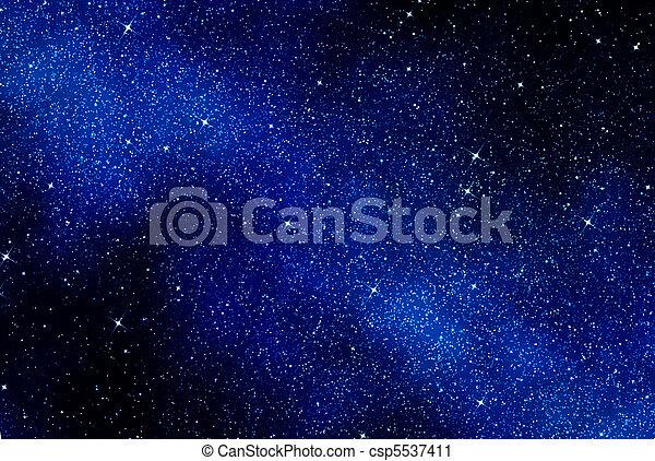 niebo nocy, albo, gwiazdy, przestrzeń - csp5537411