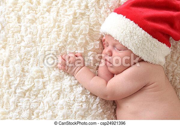 niemowlę, boże narodzenie - csp24921396
