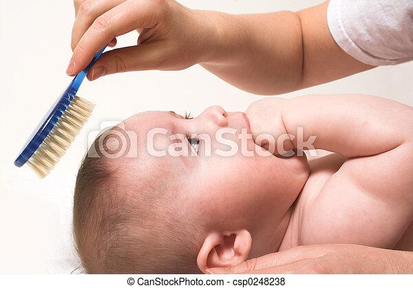 niemowlę, grzebień - csp0248238