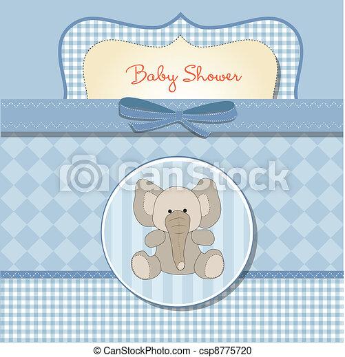 niemowlę, karta, przelotny deszcz, romantyk - csp8775720