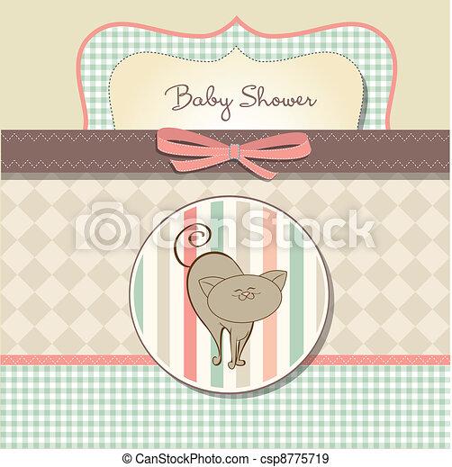 niemowlę, karta, przelotny deszcz, romantyk - csp8775719