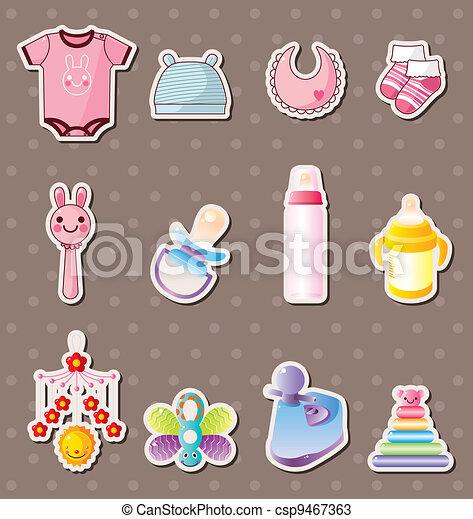 niemowlę, materiał, majchry - csp9467363