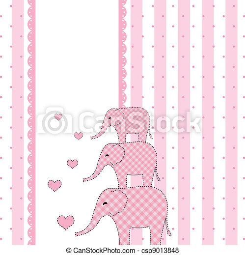 niemowlę, nowy, przelotny deszcz, karta, zaproszenie - csp9013848