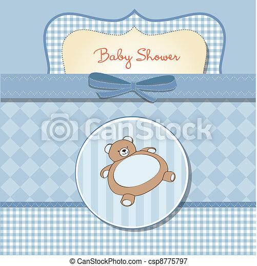 niemowlę przelotny deszcz, romantyk, karta - csp8775797