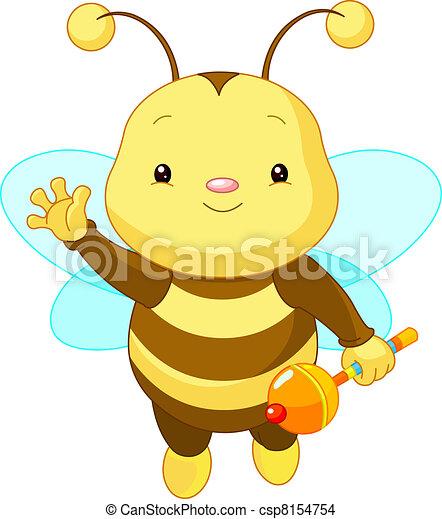 niemowlę, sprytny, pszczoła - csp8154754