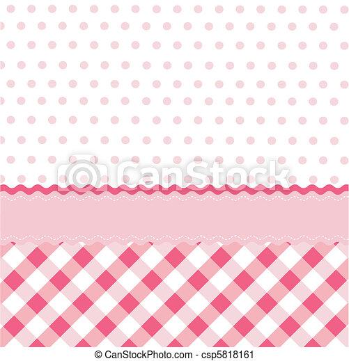 niemowlę, wallpap, dziewczyna, seamless, próbka - csp5818161
