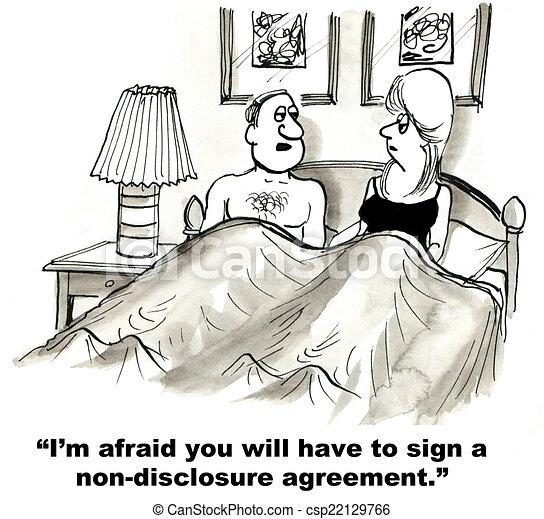 niet-onthulling, overeenkomst - csp22129766