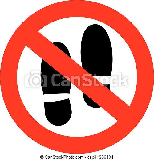 niet, stap, hier, meldingsbord - csp41366104