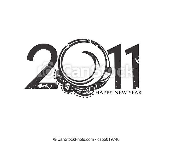 nieuw, 2011, achtergrond, jaar - csp5019748