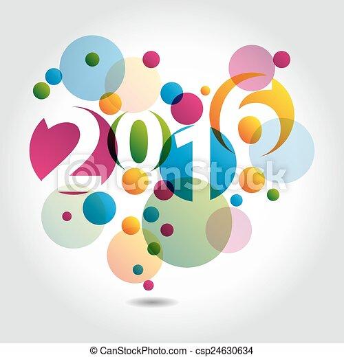 nieuw, 2016, jaar - csp24630634