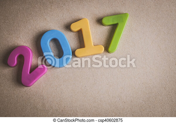nieuw, 2017, vrolijke , achtergrond, jaar - csp40602875