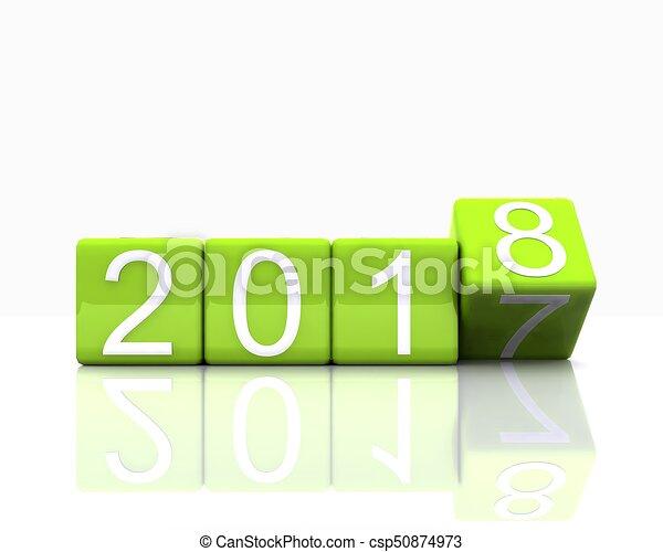 nieuw, 2018, jaar - csp50874973