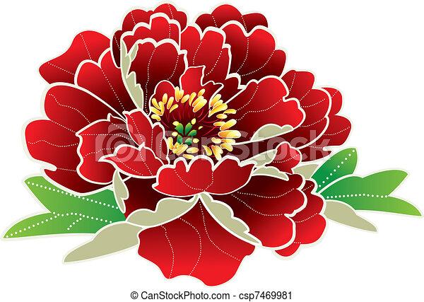 nieuw, bloem, chinees, jaar - csp7469981