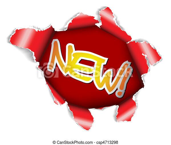 nieuw, etiket - csp4713298