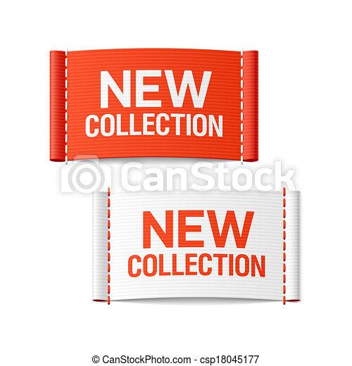nieuw, etiketten, kleding, verzameling - csp18045177