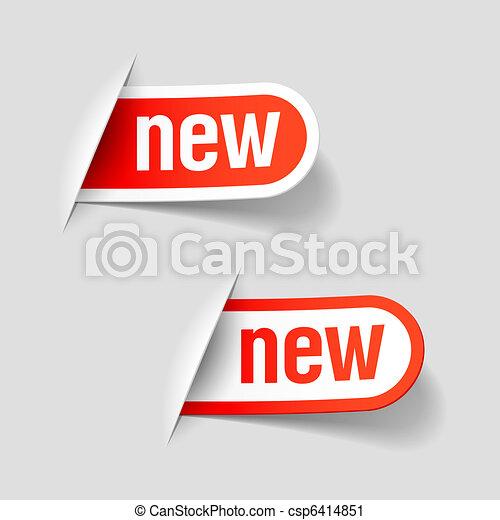 nieuw, etiketten - csp6414851