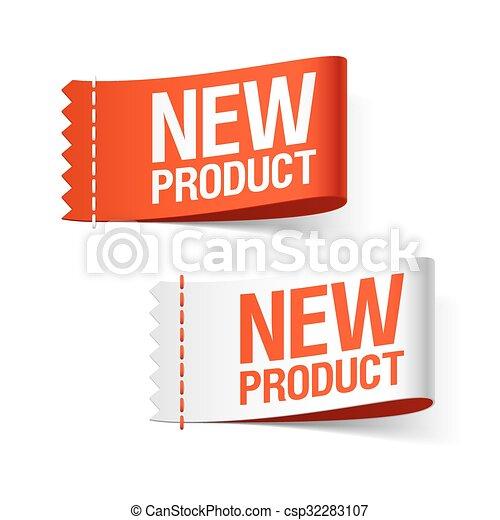nieuw product, etiketten - csp32283107